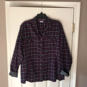 Women's Columbia plaid long sleeve button down 2X
